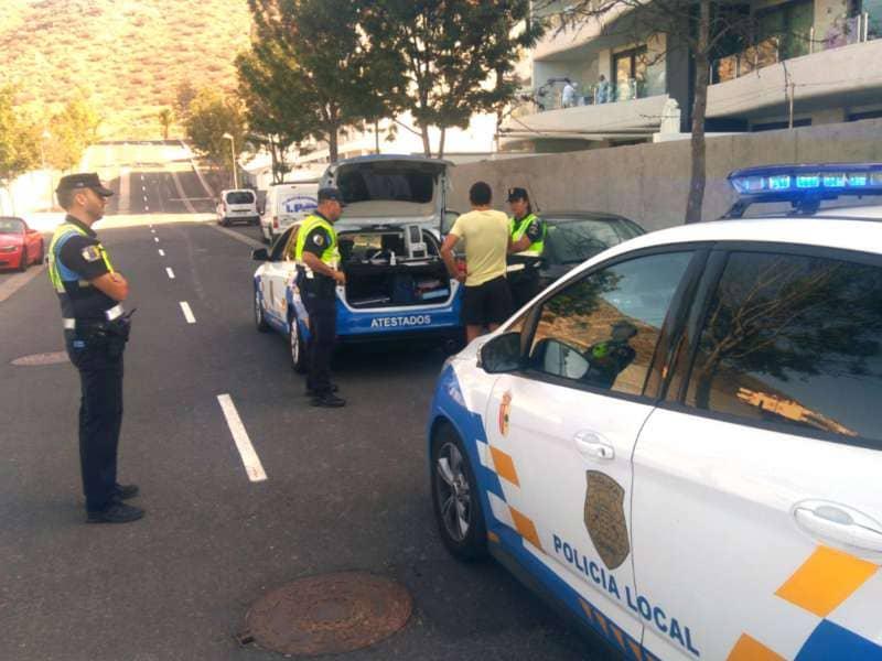 La Policía Local de Arona levanta 126 actas por posesión de drogas