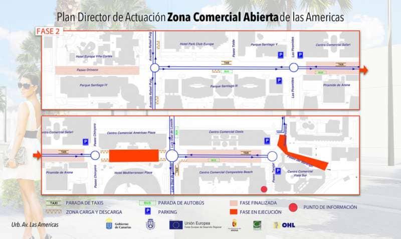Modificaciones en el tráfico de la avenida Las Américas por obras