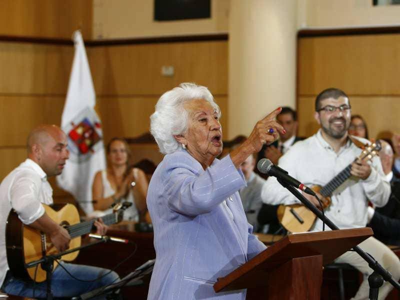 María Mérida pregona su profundo amor a la Virgen de Candelaria