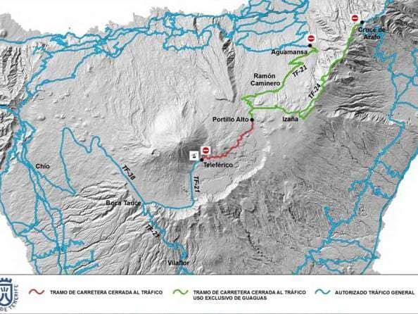 Activado el Operativo Nevadas para garantizar la seguridad en los accesos al Teide