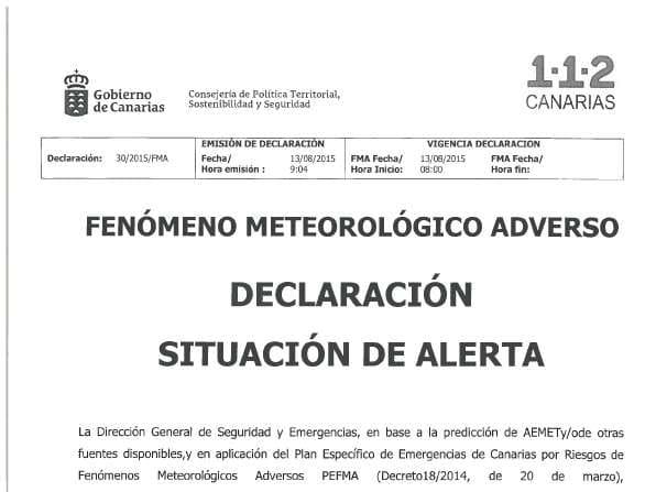 Onda TenerifeDeclarada la alerta por lluvia en Tenerife, La Palma y Gran Canaria