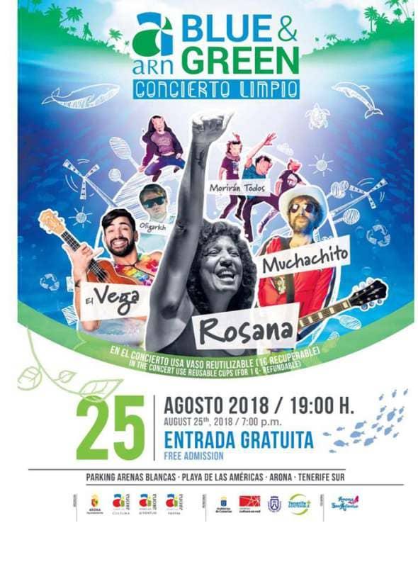Onda TenerifeEva Olvido y Pablo Barrios serán los 'dj's' que dinamizarán el Concierto Limpio del ARN Blue & Green