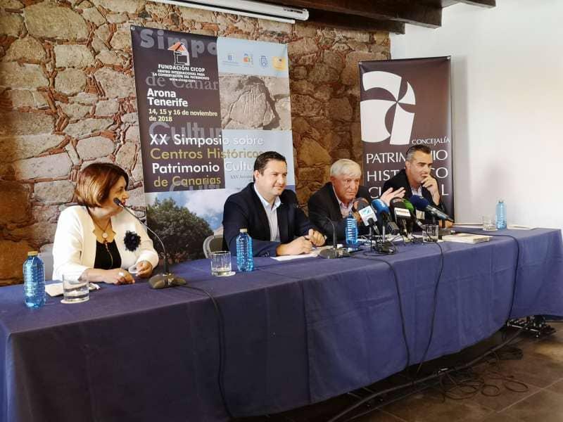 Onda TenerifeArona acoge en noviembre el XX Simposio de Centros Históricos y Patrimonio Cultural de Canarias